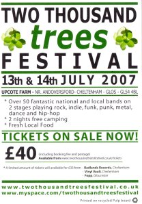 200 Trees Flyer